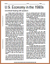 U.S. Economy in the 1980s Reading with Questions