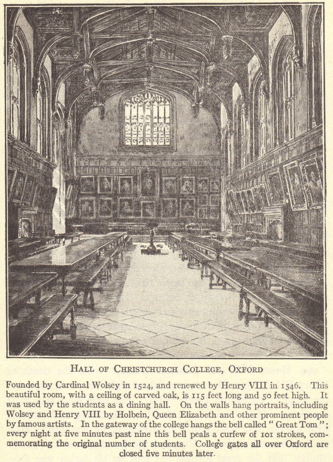 Hall of Christchurch College, Oxford