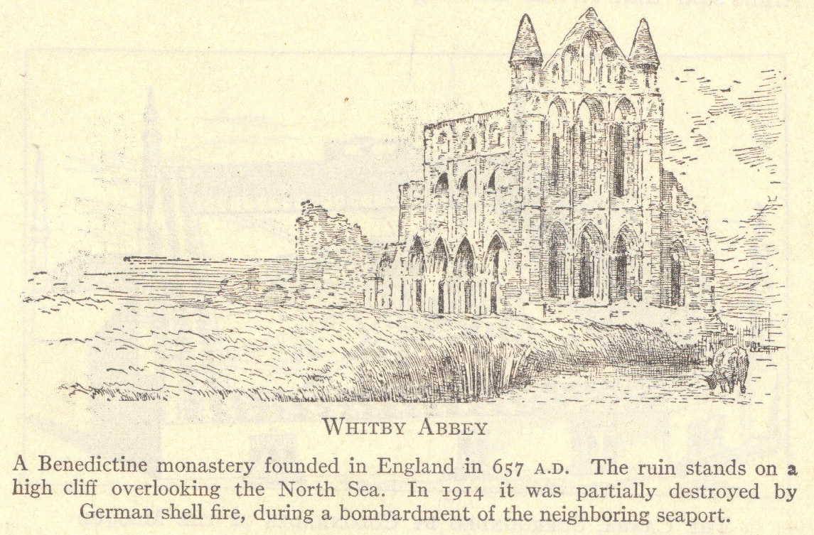 Whitby Abbey: A Benedictine monastery founded in England in 657 A.D.