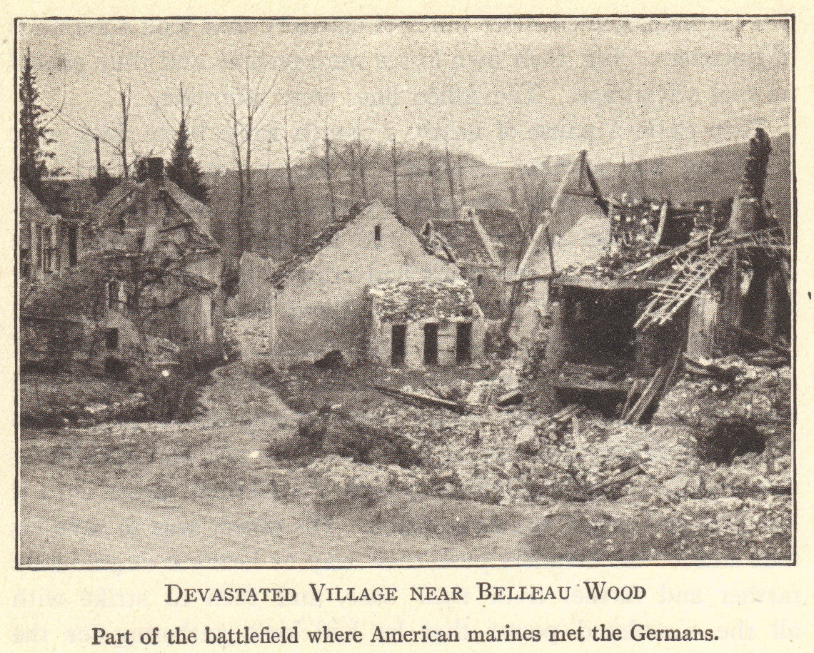 Devastated Village near Belleau Wood (France, World War I)