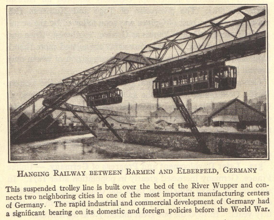 German Hanging Railway (circa 1920)