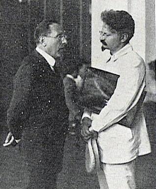 Leon Trotsky and Giacinto Menotti in Italy