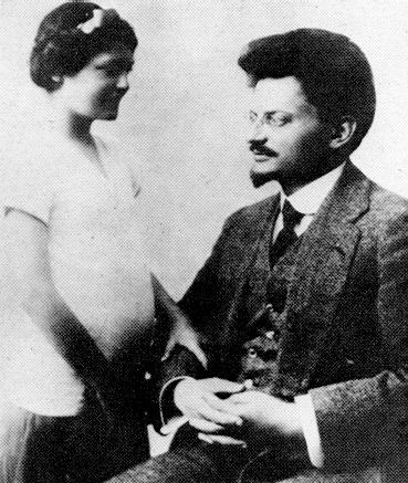 Leon Trotsky with Daughter Nina in 1915