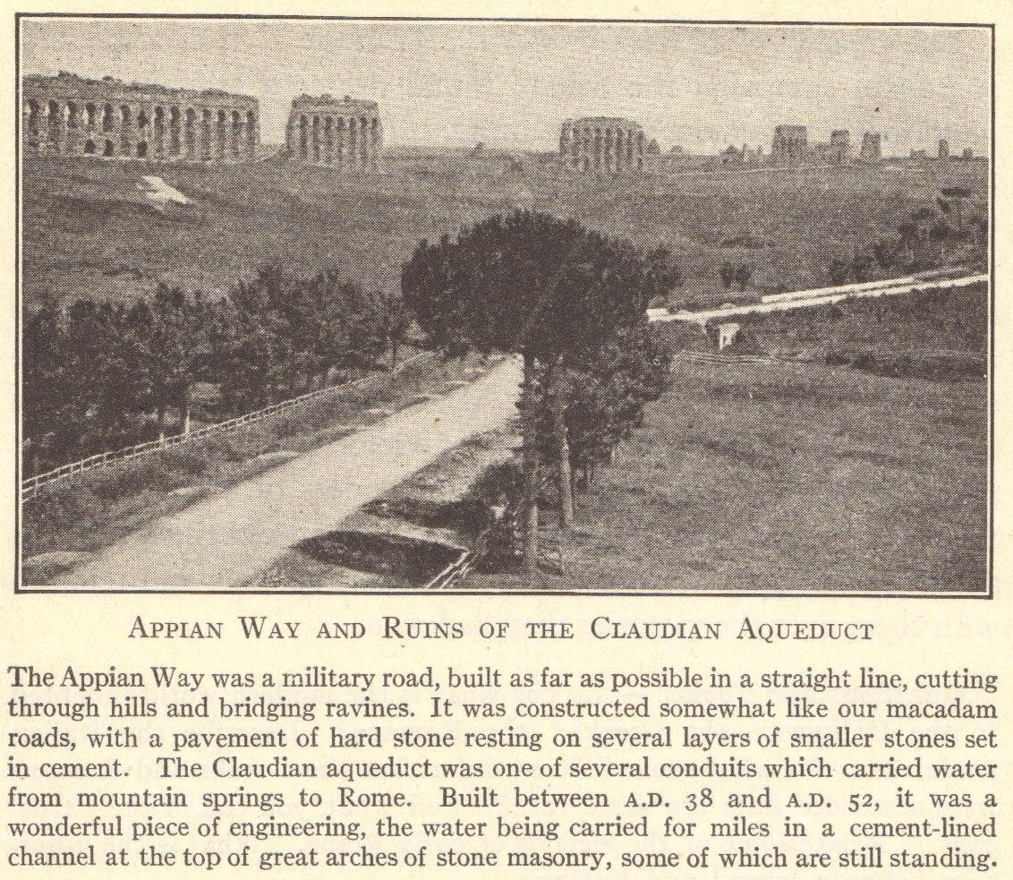 Appian Way and Claudian Aqueduct