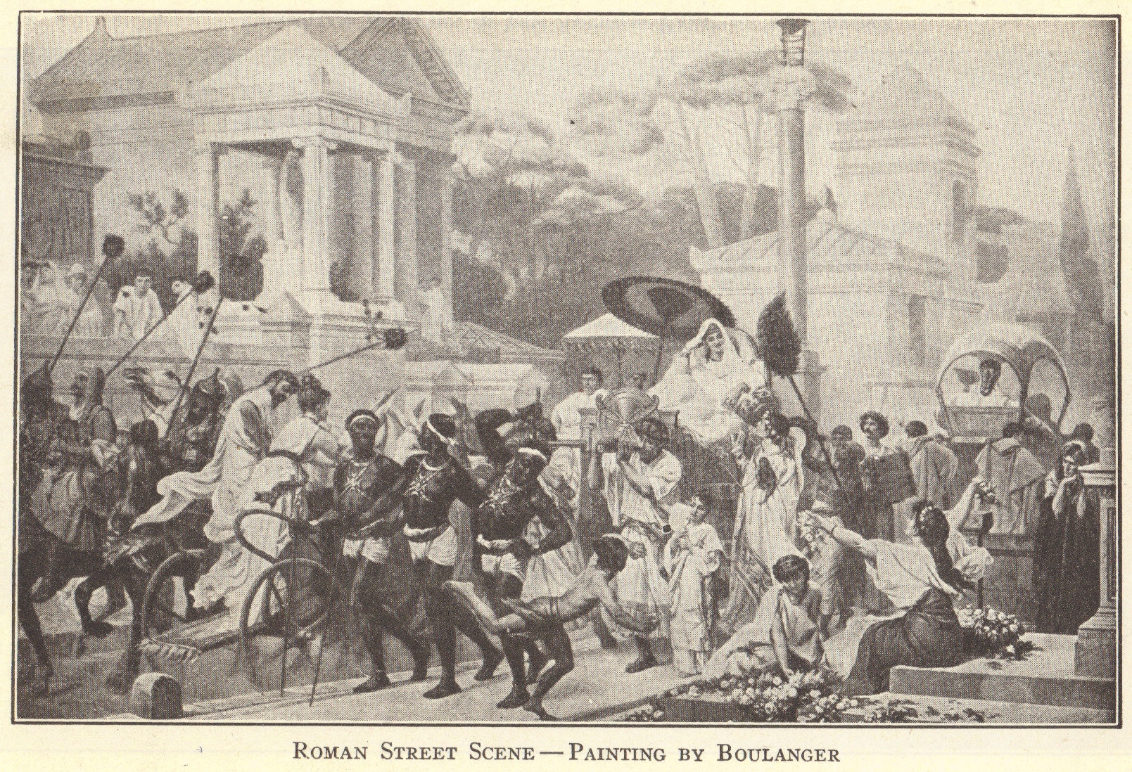 Street Scene of Ancient Rome