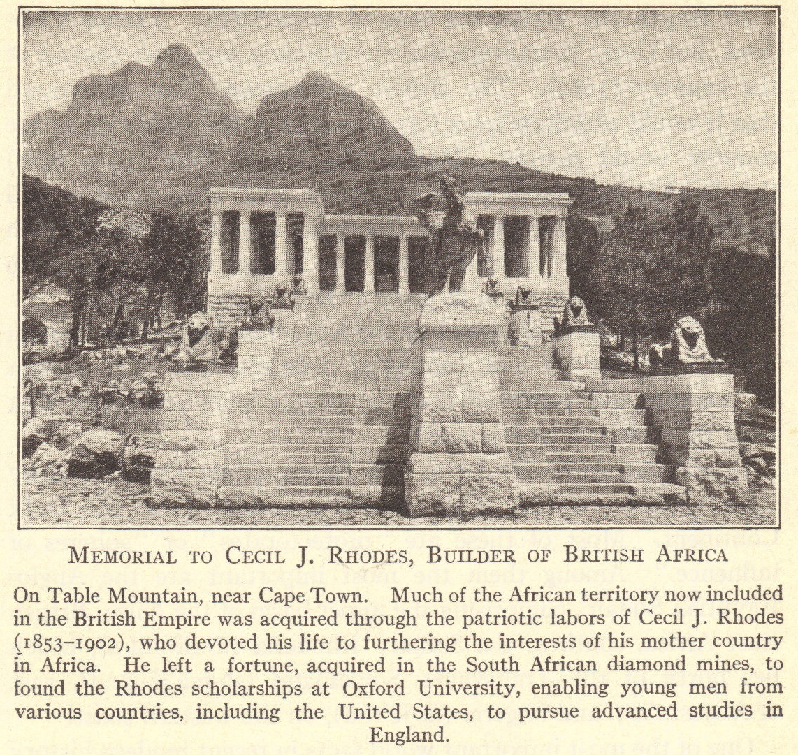 Cecil Rhodes Memorial on Africa's Table Mountain