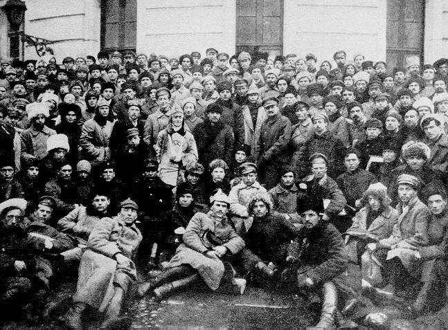 Vladimir Lenin and Leon Trotsky in Petrograd in 1921