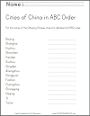Chinese Cities in ABC Order