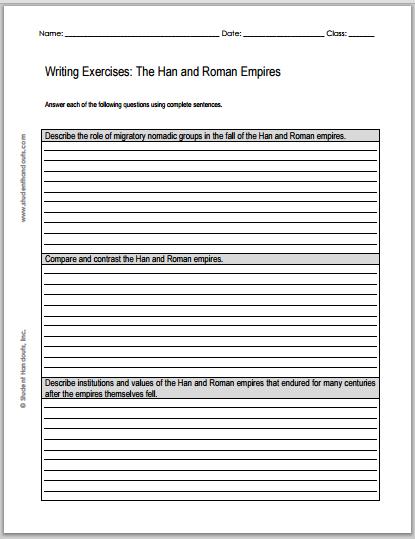 Great Empires Essay Questions