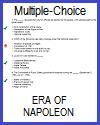 Napoleonic Era Multiple-Choice Quiz; Grades 9-12