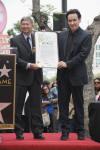 John Cusack and Leron Gubler (April 24, 2012)