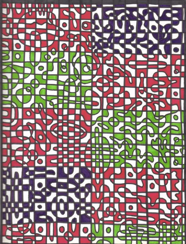 DIY COLORING: Learn to Make a Curved Checkerboard - Instructions
