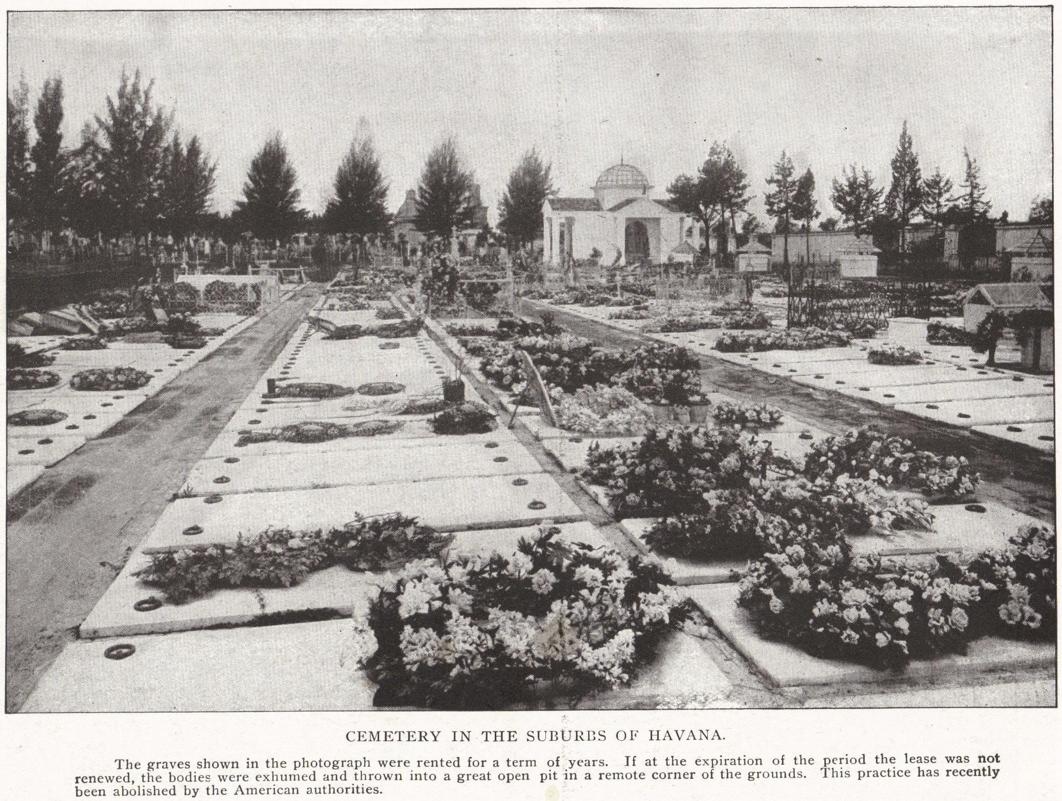 Cemetery in the Suburbs of Havana, Cuba (1898)
