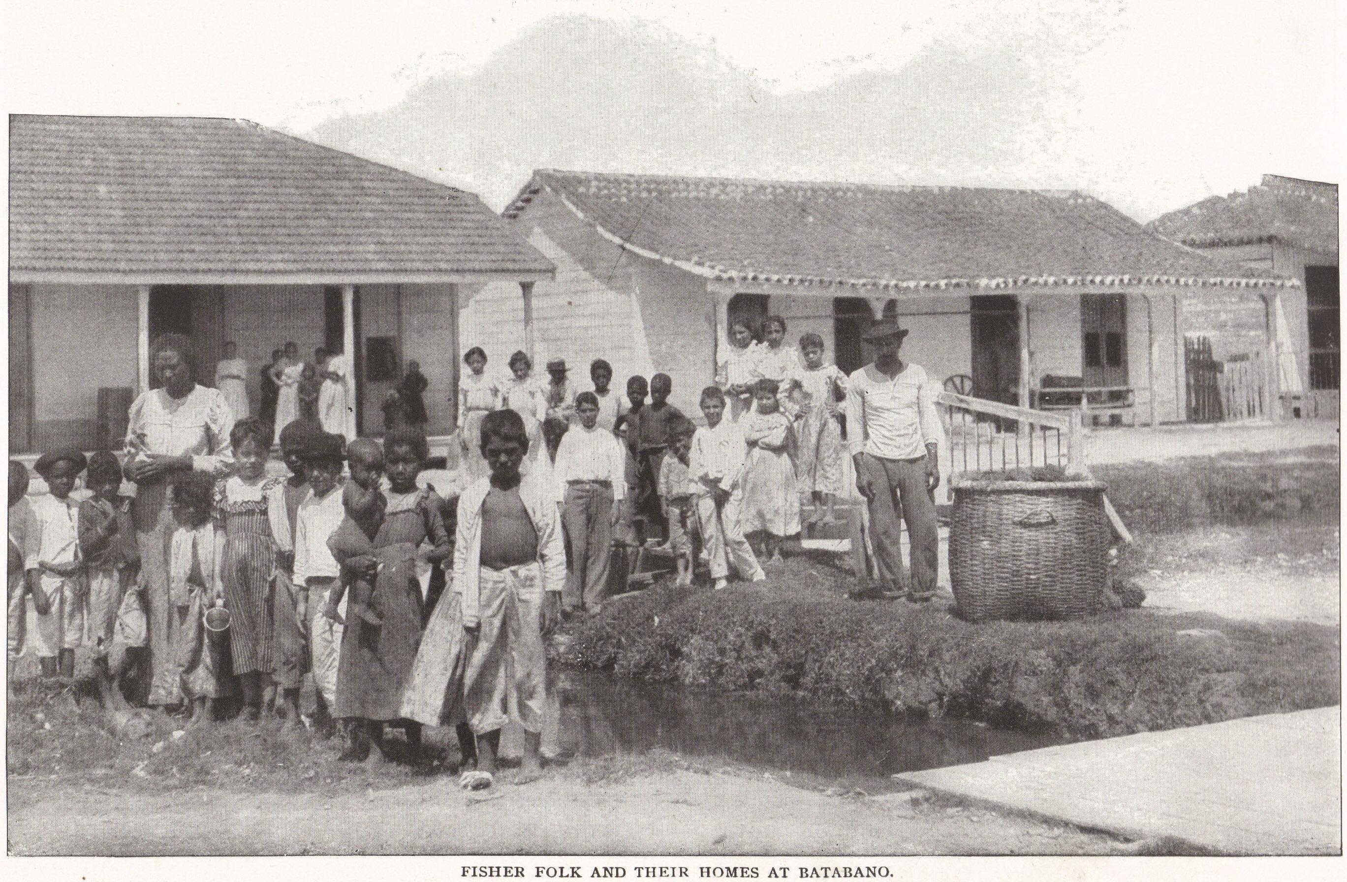 FISHER FOLK AND THEIR HOMES AT BATABANO, CUBA (1898)