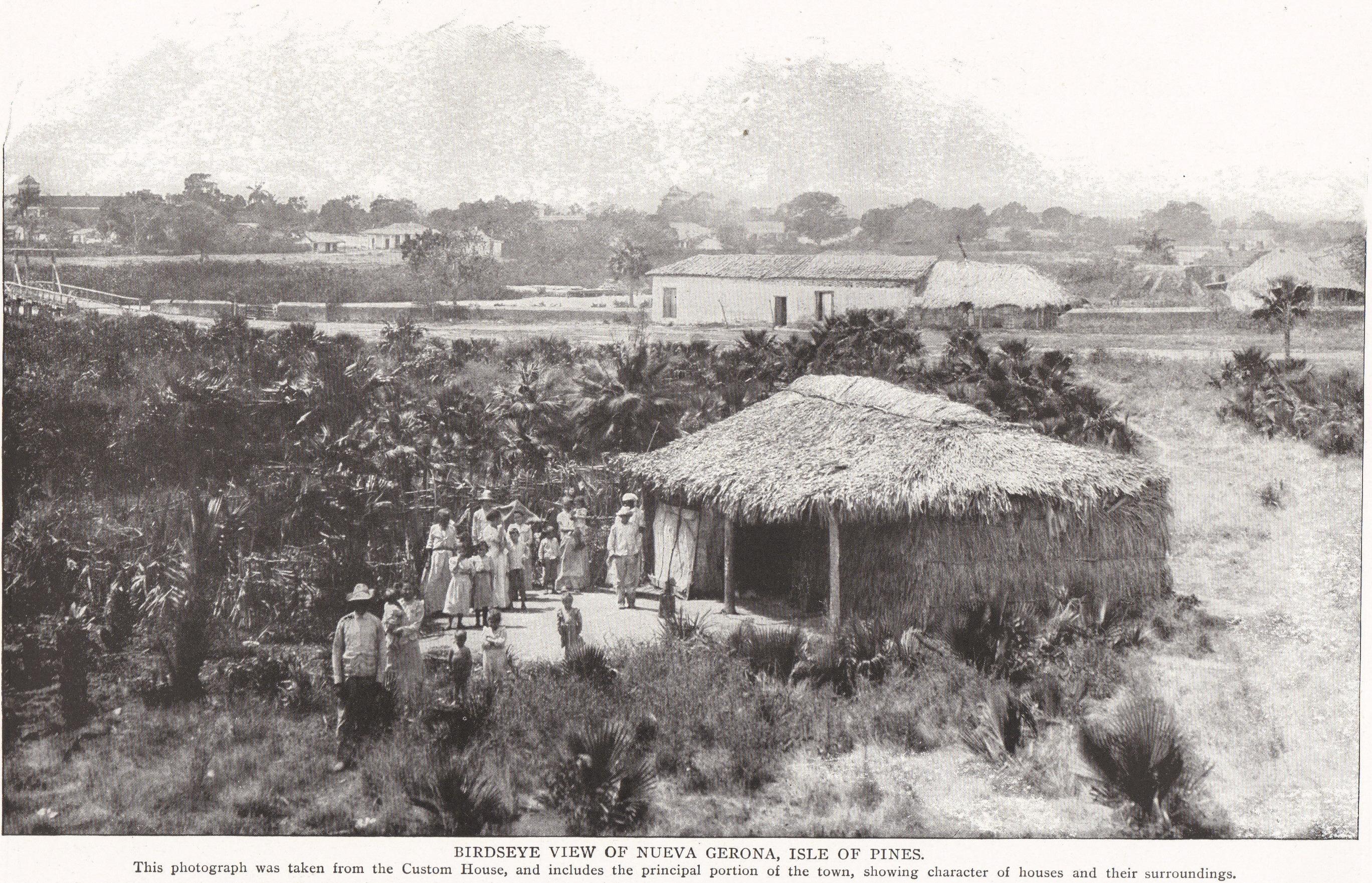 BIRDSEYE VIEW OF NUEVA GERONA, ISLE OF PINES (ISLA DE LA JUVENTUD), CUBA