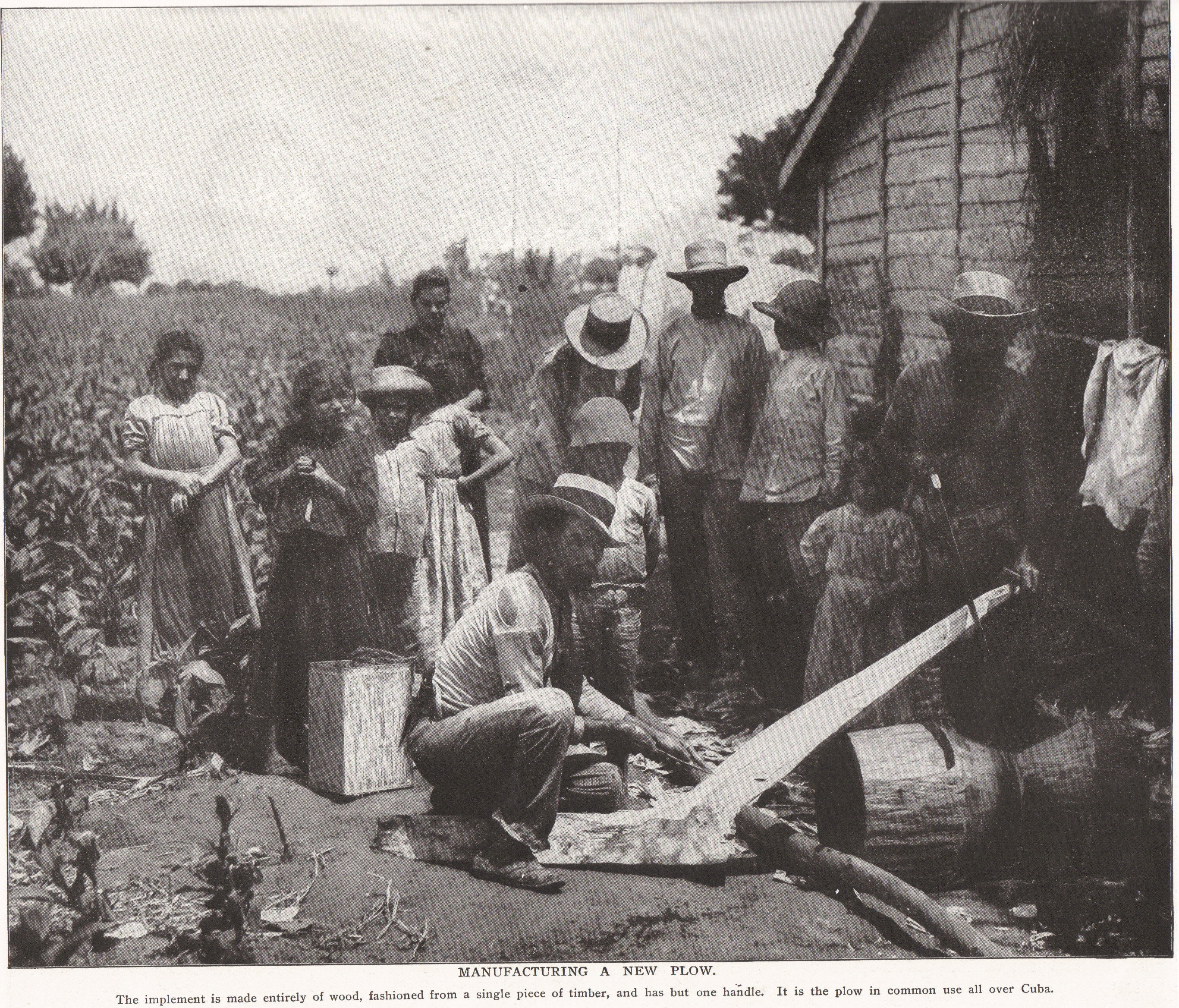 Manufacturing a New Plow in Cuba, 1898