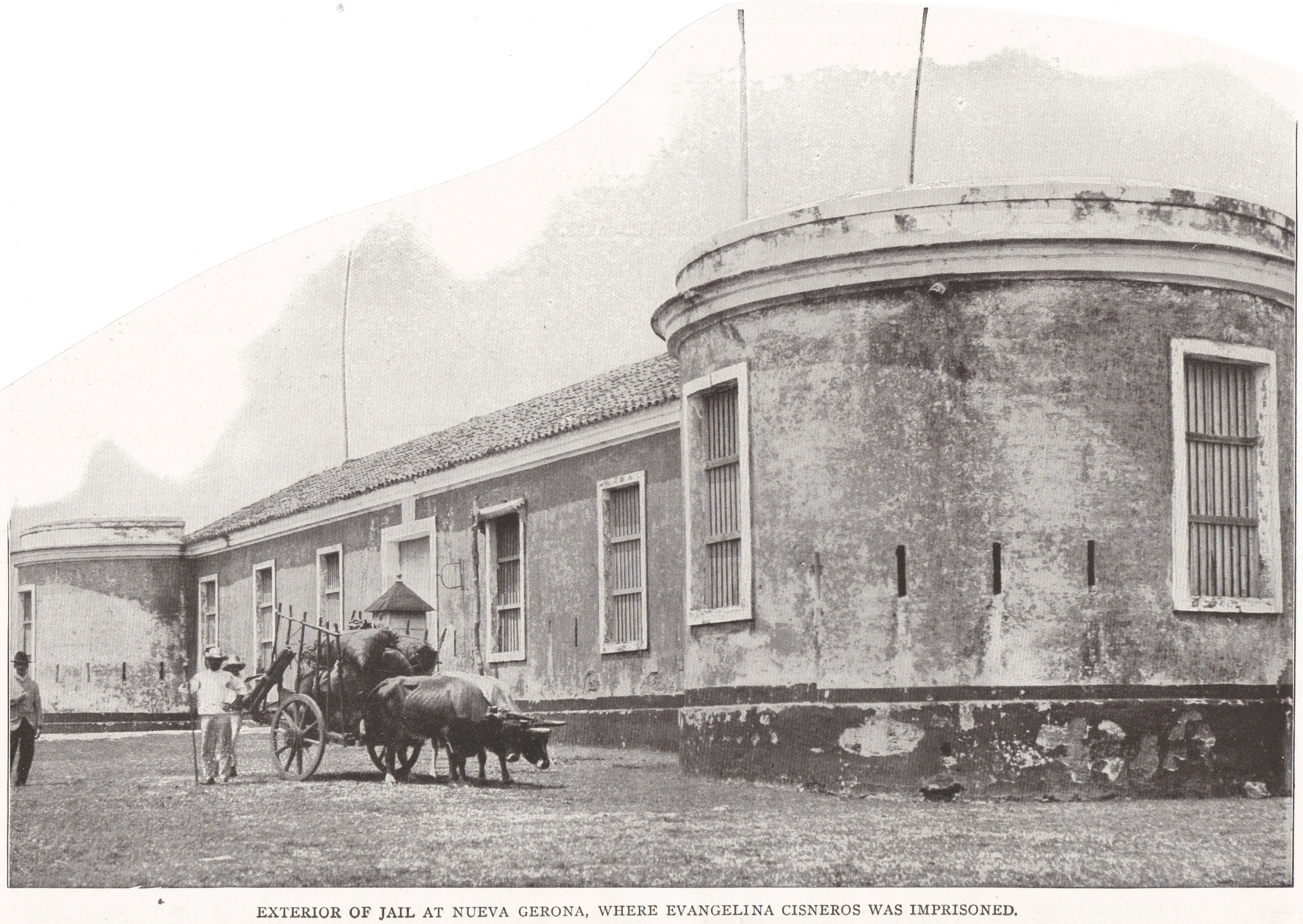 Exterior of Jail at Nueva Gerona, Cuba (1898)