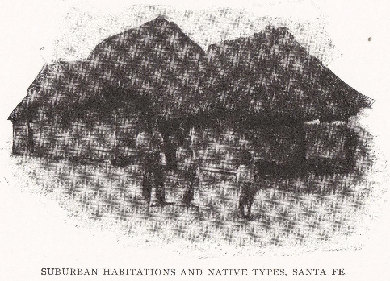 SUBURBAN HABITATIONS AND NATIVE TYPES, SANTA FE, ISLA DE LA JUVENTUD, CUBA