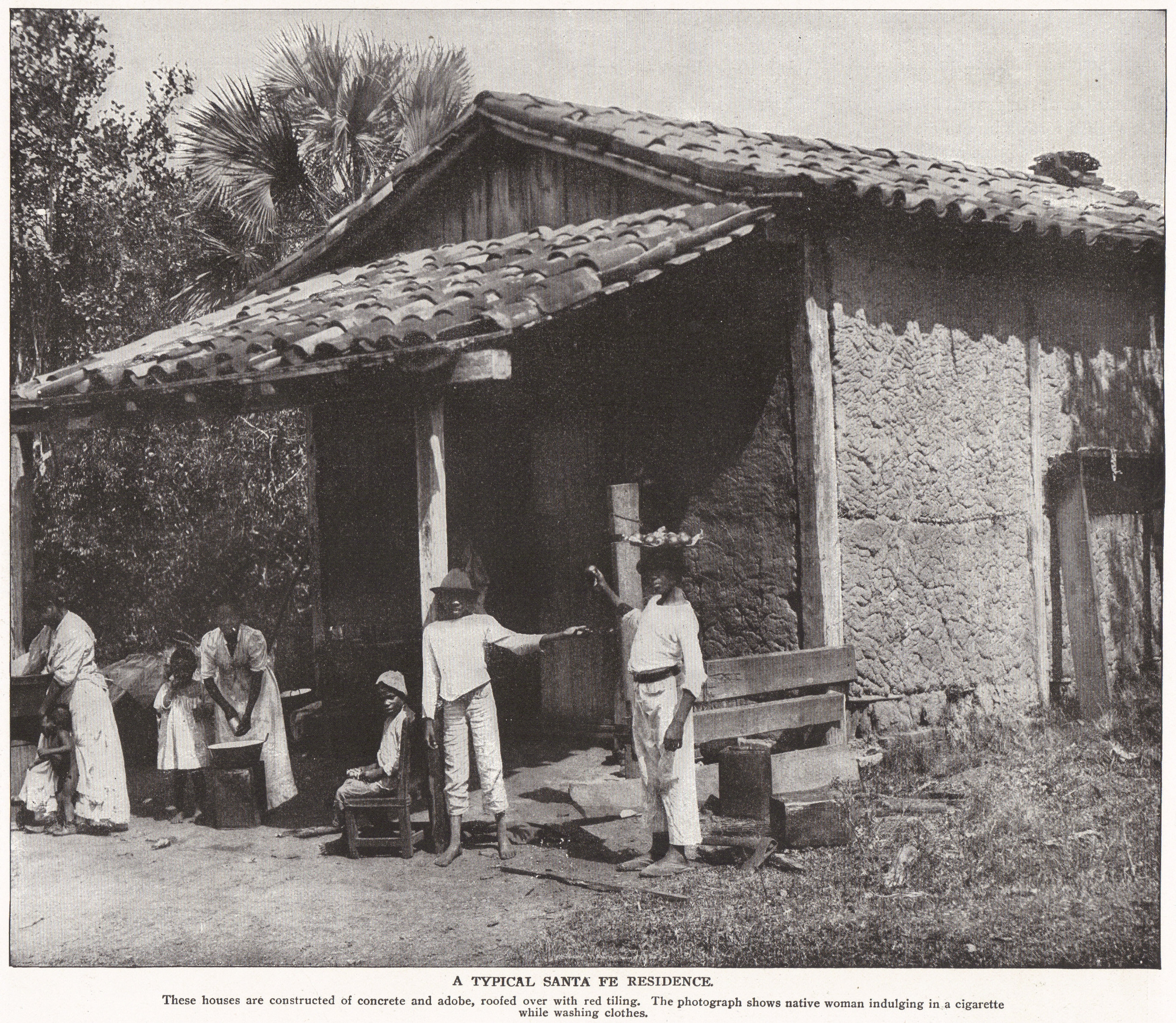 Typical Santa Fe Residence (Cuba, 1898)
