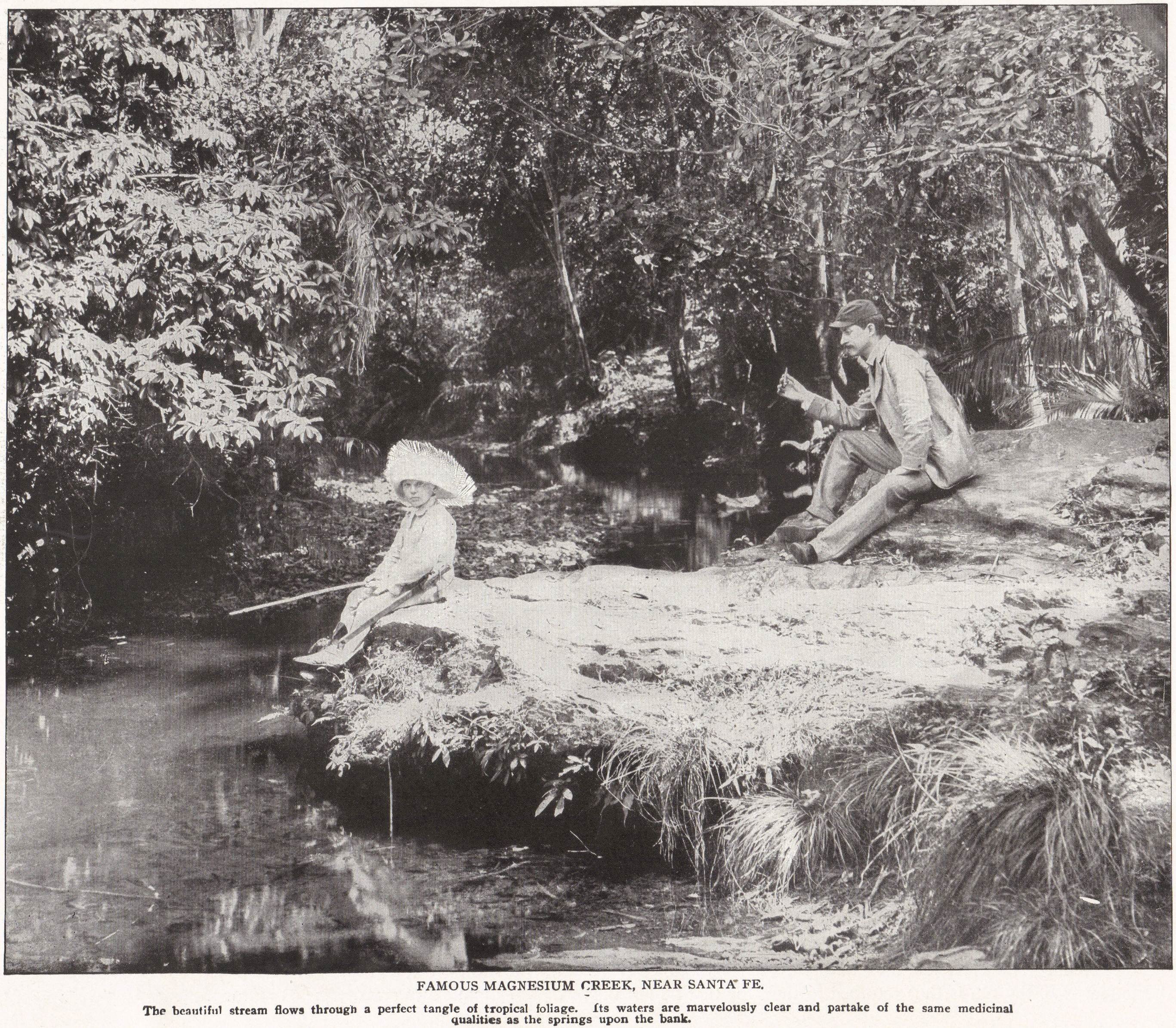 FAMOUS MAGNESIUM CREEK, NEAR SANTA FE, CUBA (1898)