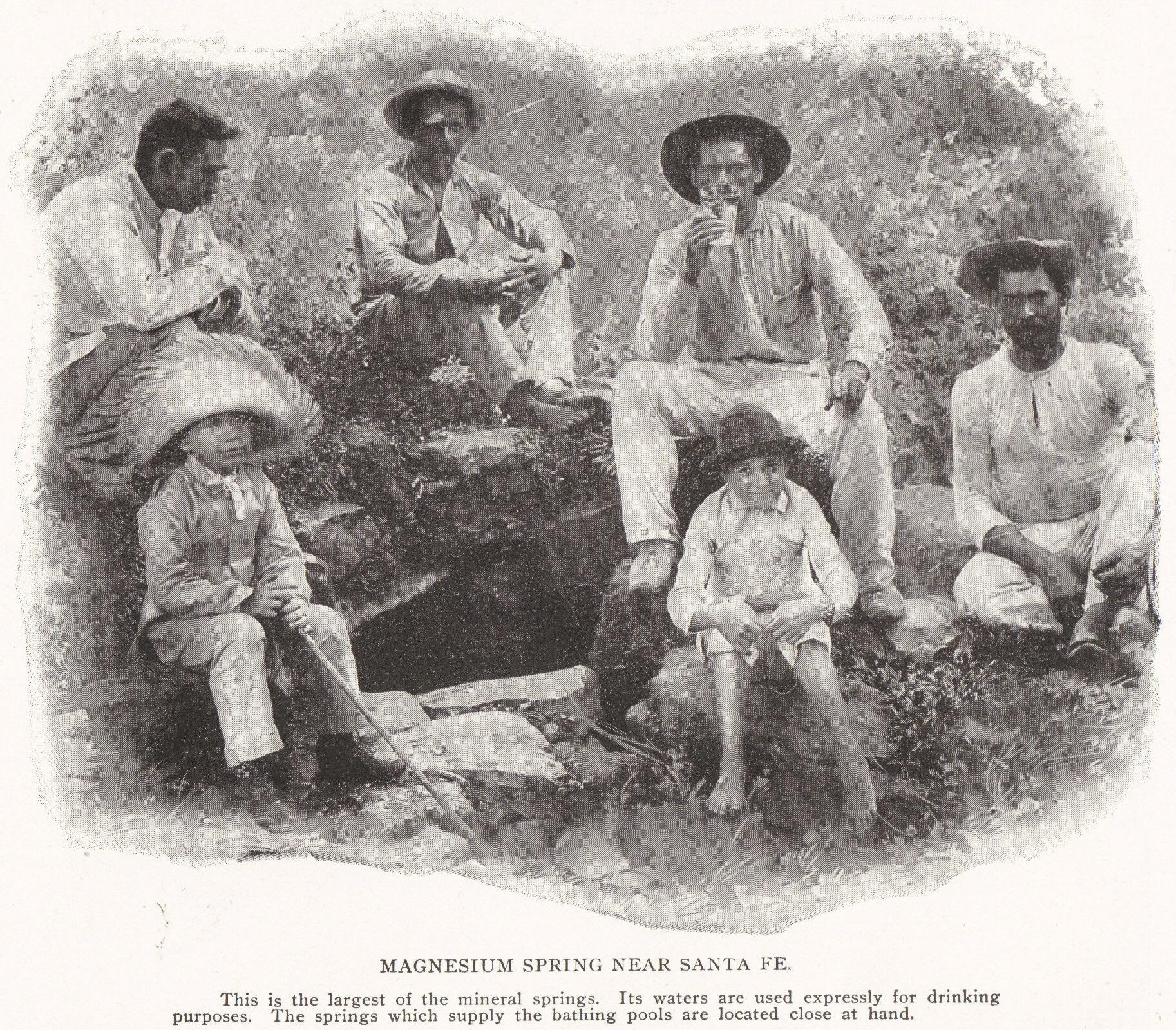 Magnesium Spring near Santa Fe, Cuba (1898)