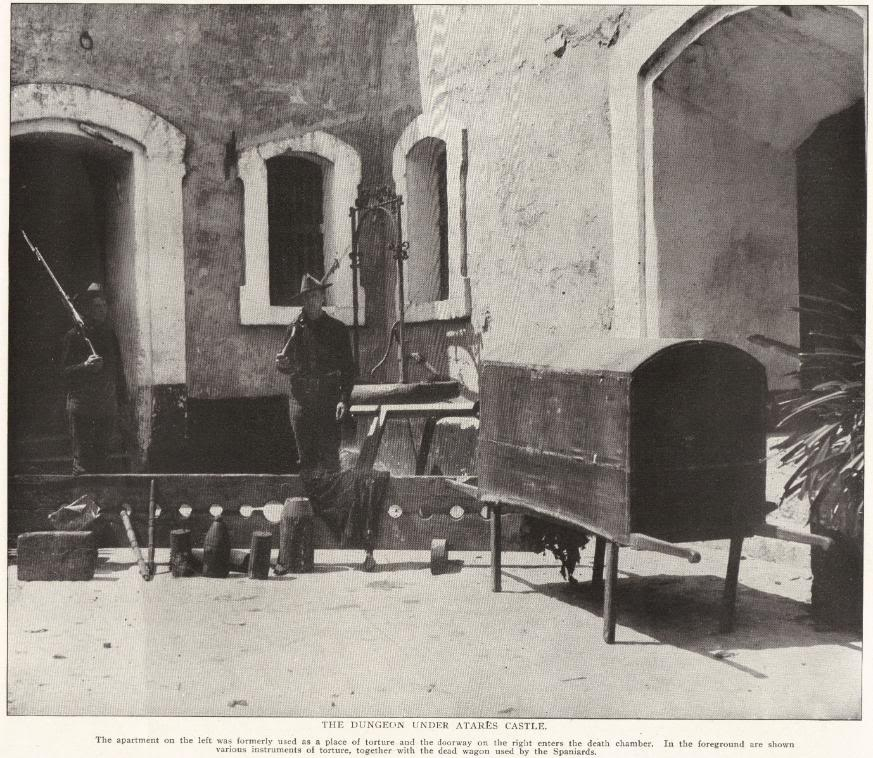 THE DUNGEON UNDER ATARES CASTLE, CUBA (1898)