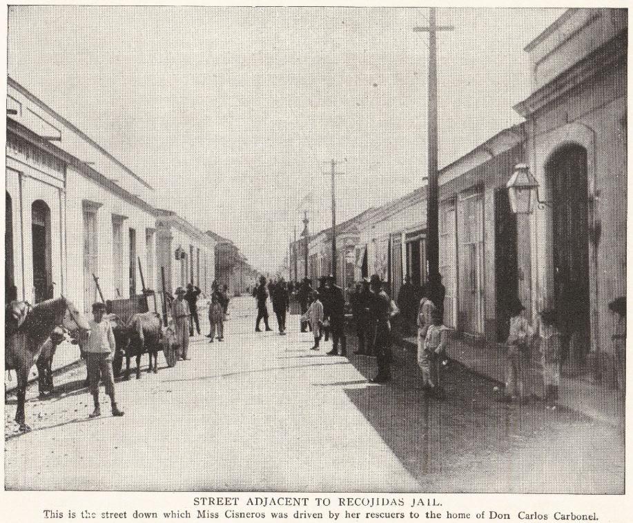 Street Adjacent to Recojidas Jail (Cuba, 1898)