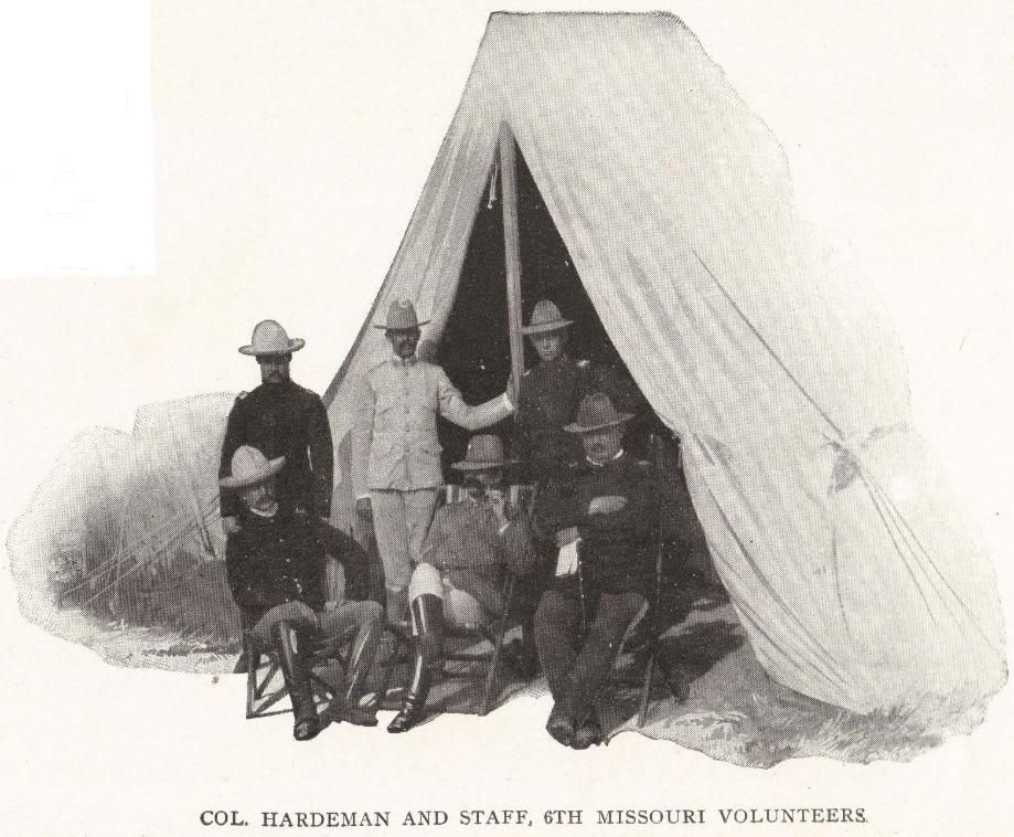 COL. HARDEMAN AND STAFF, 6TH MISSOURI VOLUNTEERS