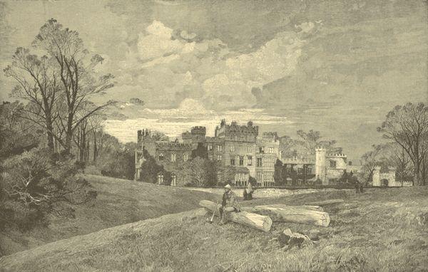 Hawarden Castle, the home of William Ewart Gladstone.