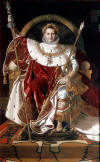 Napoleon Bonaparte on His Imperial Throne