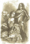 A standing man behind a sitting woman - John Churchill, Duke of Marlborough