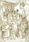 Saladin and Christians.