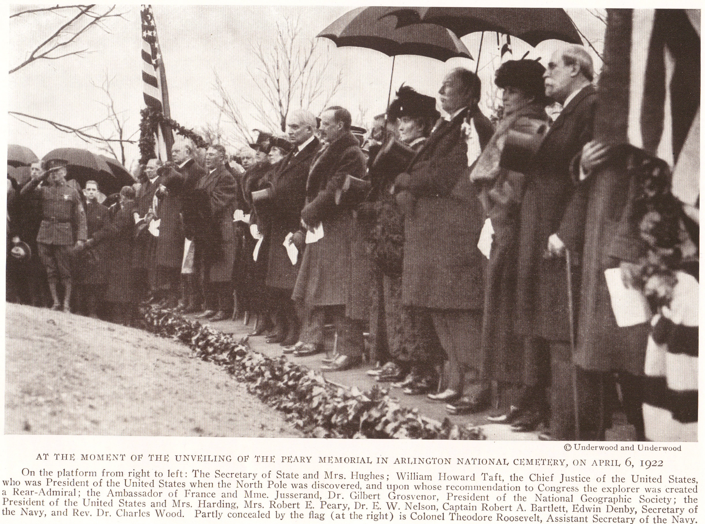 Unveiling of the Robert Peary Memorial