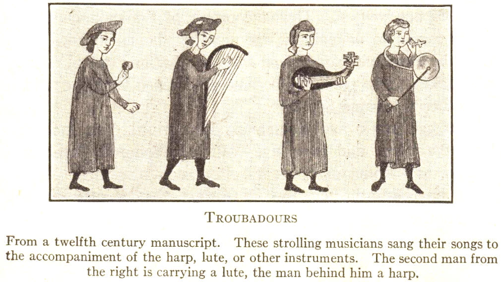Musical Troubadours of the European Middle Ages