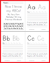 ABC Handwriting Workbook - Learn to Print for Free