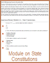 State Constitutions Learning Module for United States History