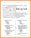 Belgium Map Worksheet