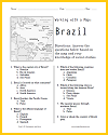 Brazil Map Worksheet