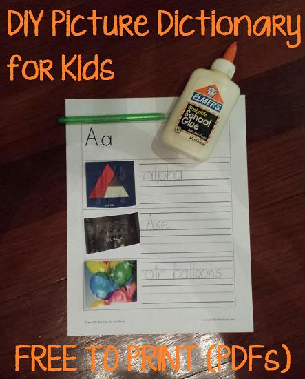 DIY Printable Children's Picture Dictionary | Student Handouts