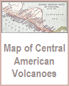 Map of Volcanoes in Central America