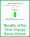 Months of the Year Energy Saver Game