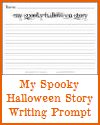 My Spooky Halloween Story Writing Prompt for K-3