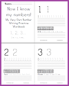 Numbers Writing Practice Workbook