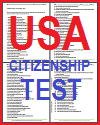 U.S. Citizenship Test - Free Printable (PDF)