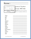 Southern European Countries in ABC Order - Free Printable Geography/ELA Worksheet