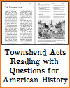 Townshend Acts Reading with Questions