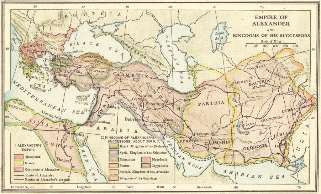 The Empire of Alexander the Great and the Kingdoms of His Successors ...