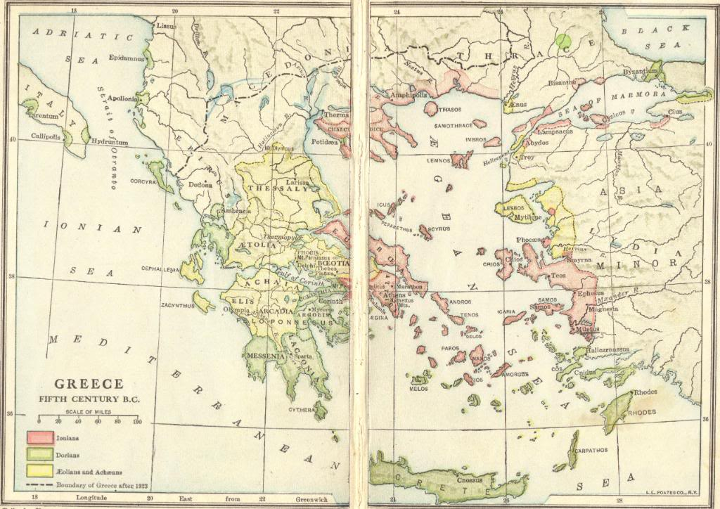Ancient Greece in the Fifth Century BCE - Free Online Map Quiz