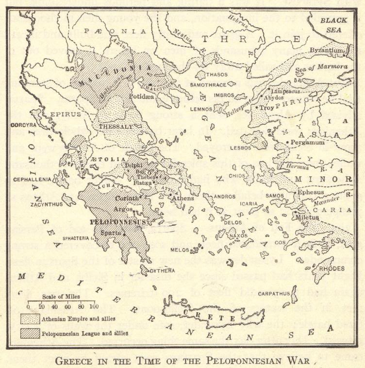 Greece in the Time of the Peloponnesian War, 431-404 BCE - Map Quiz