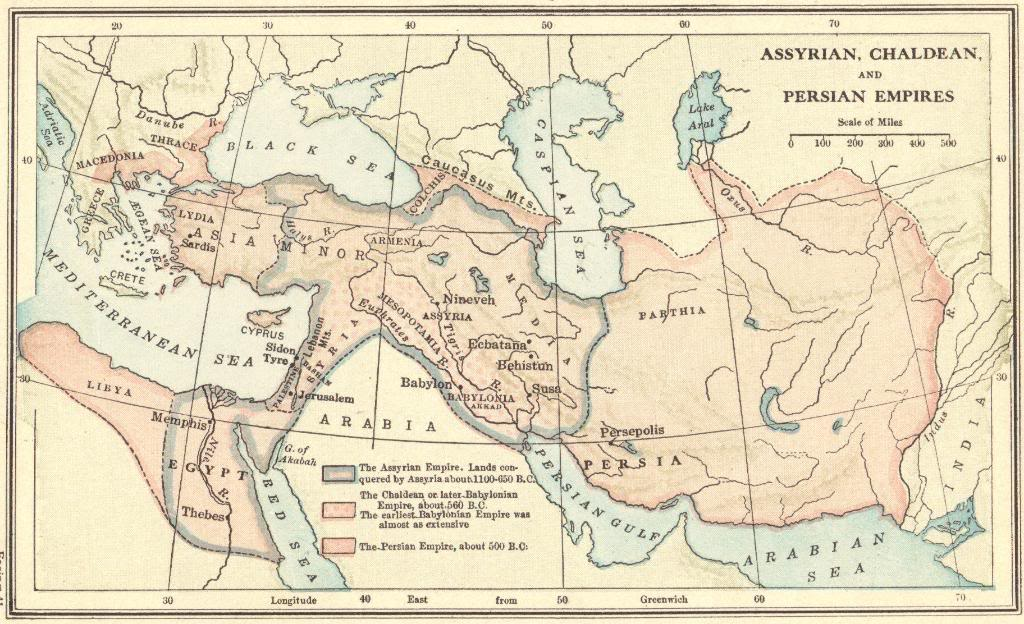 The Assyrian, Chaldean, and Persian Empires, 1100-500 BCE - Map Quiz